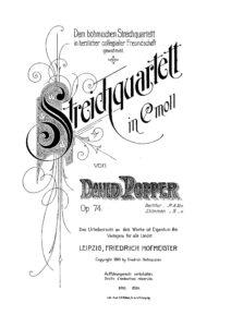 e - Popper D. - String Quartet Op.74