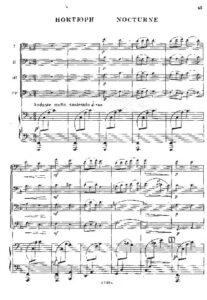 e - Rakov N. - Nocturne for 4 Cellos and Piano