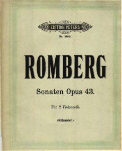 e - Romberg B. - 3 Sonatas Op.43 (Grutzmacher)