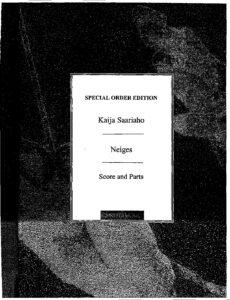 e - Saariaho K. - Neiges (Snow) for 8 Cellos (score)