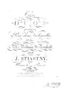 e - Stiastny J. - 3 Duos Concertans for 2 Cellos Op.6