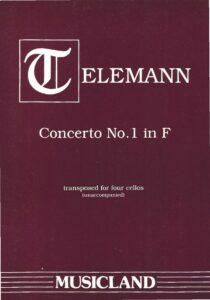 e - Telemann G.P. - Concerto in F for 4 Cellos