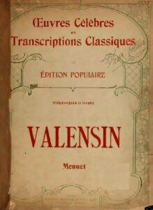 e - Valensin G.C. - Menuet for Cello and Harp (Bazelaire)