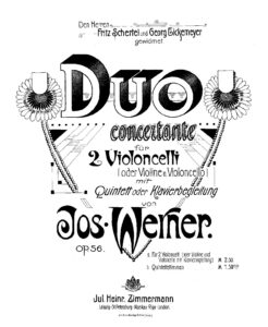 e - Werner J. - Duo Concertanto Op.56 for 2 Cellos (or Violine and Cello) and Piano