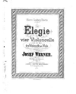 e - Werner J. - Elegie Op.21 for 4 Cellos (or Viola and 3 Cellos)