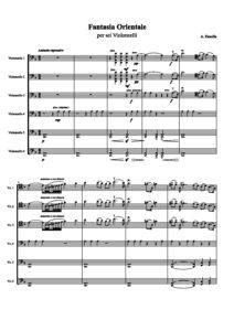 e - Zanella A. - Fantasia Orientale for 6 Cellos