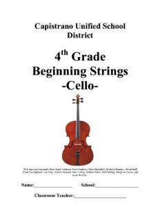 m - Beginning Strings. Cello (CUSD)