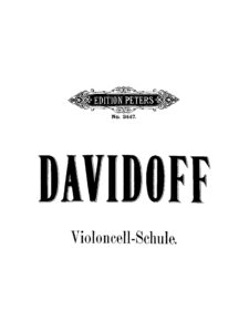 m - Davidoff C. - School of Violoncello Playing (Peters)