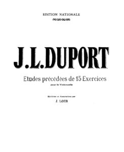 m - Duport J.L. - 21 Etudes Preceded by 15 Exercises (Loeb)