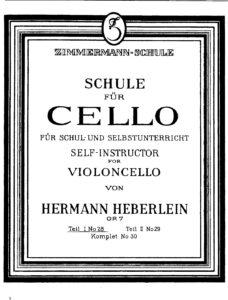 m - Heberlein H. - Self-Instructor for Violoncello Op.7