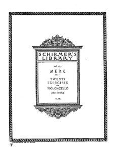 m - Merk J. - 20 Etudes Op,11 (Schultz)