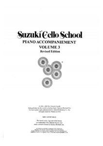 m - Suzuki Cello School 3