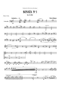 s - Babayan V. - Sonata No.3 for Cello Solo Op.145