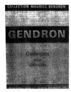 s - Gendron M. - Cadenzas for Cello Concertos