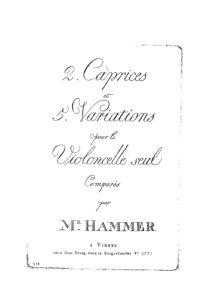 s - Hammer X. - 2 Caprices and 5 Variations
