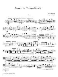 s - Hindemith P. - Cello Sonata Op.25 No.3 (Schott)