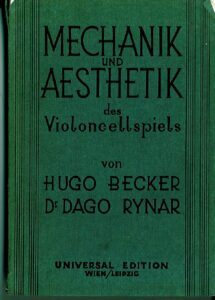 t - Becker H., Rynar D. - Mechanik und Aesthetik des Violoncellospiels