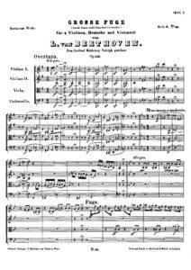Beethoven L. - Great fuge Es-dur for string quartet, op. 133