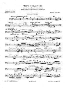 Caplet A. - Epiphanie, fresque musicale pour violoncelle et orchestre d'apres une legende Ethiopienne