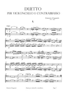 Dragonetti D. – Duet for Cello and Bass