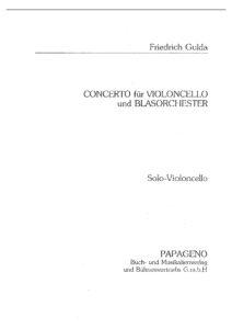Friedrich G. - Concerto for Cello