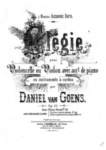 Goens D. - Elégie for Cello and Piano Op.10