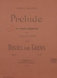 Goens D. - Prélude for Violin (or Cello) and Piano Op.21