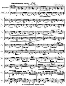 Harrington J. – Duo for 2 Cellos