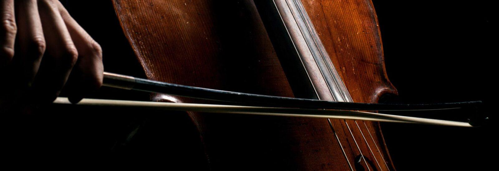 Комфортное положение левой руки для виолончелистов.