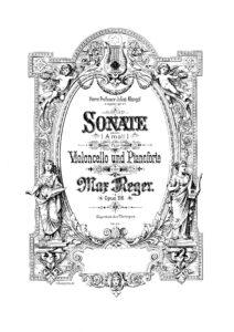 Reger M. – Cello Sonata No.4 Op.116