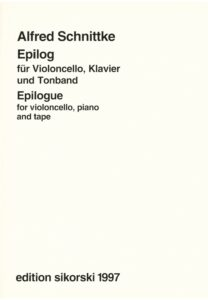 Schnittke A. - Epilogue for cello, piano and tape
