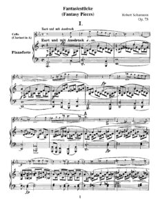 Schumann R. - Three piece's for cello and piano, op.73