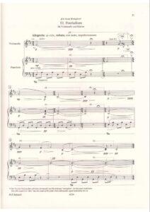Silvestrov V. - Postlude №3 for cello and piano