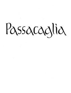 Walton W. - Passacaglia for Cello Solo (1980)