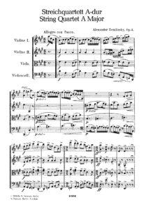 Zemlinsky A. - String quartet №1 A-Dur, op.4