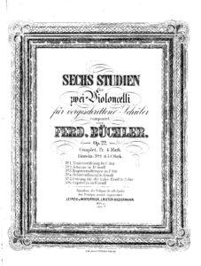 Buchler F. - 6 Studies for 2 Cellos Op.22