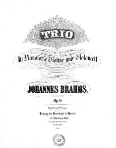 Brahms J. - Piano trio №1 H-Dur op.8