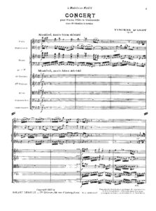 d'Indy V. - Concerto for piano, flute, cello and strings, op. 89