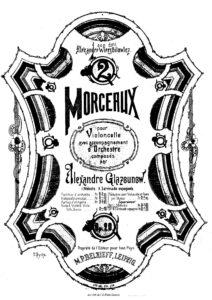 Glazunov A. – Melodie, Op.20, No.1