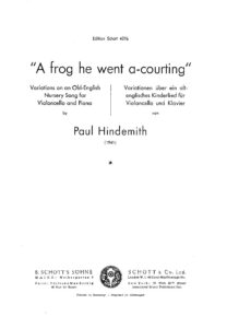 Hindemith P. - Variations on an Old-English nursery song A frog he went a-courting for cello and piano