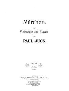 Juon P. - Märchen for cello and piano op.8