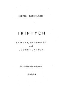 Korndorf N. - Triptych for cello and piano