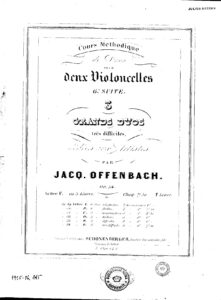 Offenbach J. - Suite for two cello's, op.54 №1