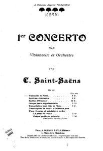 Saint-Saens C. – Cello Concerto No. 1 in A Minor, Op. 33