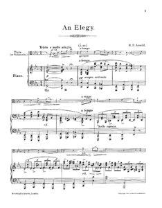 Arnold R. - An Elegy for Cello or Viola