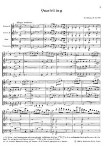 Berwald F.A. - String quartet №1 g-moll