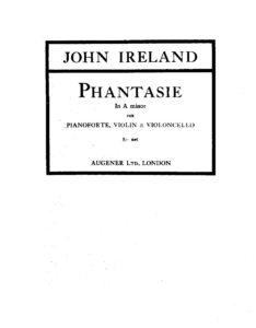 Ireland J. - Phantasie №1 a-moll
