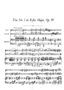 Schubert F. - Piano trio №1 B-Dur, op.99