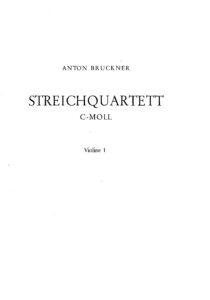 Bruckner A. - String quartet c-moll