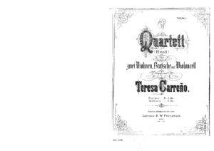 Carreno M.T. - String quartet h-moll